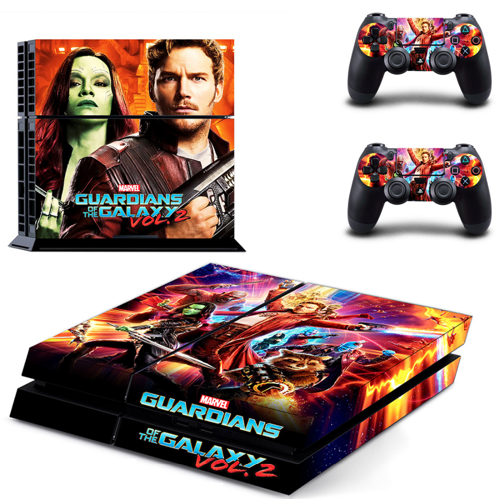 Guardians of the Galaxy PS4 Skin Sticker Decal for Sony PlayStation 4 Console and 2 Controller Skin PS4 Sticker Vinyl Accessory