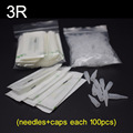 3R (Needles +Tips each 100pcs) Profession Sterilized Permanent Makeup Needles With Tips