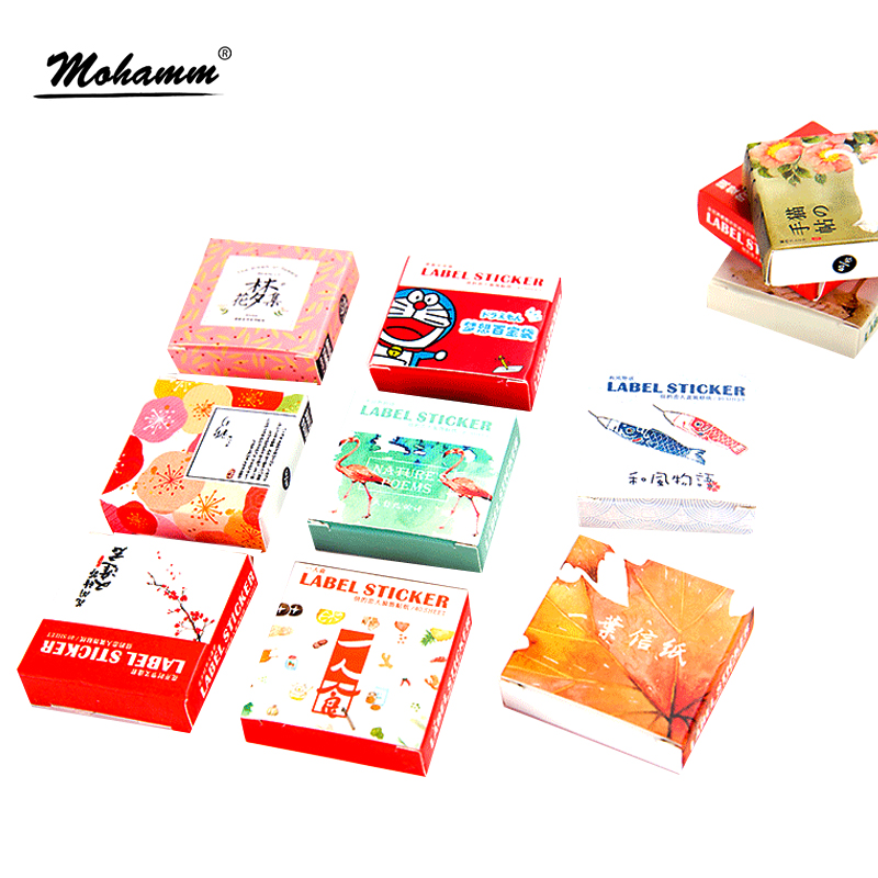 40pcs/lot Cute Food Flower Animals Decoration Adhesive Stickers Diy Cartoon Stickers Diary Sticker Scrapbook Stationery Stickers 8 pcs lot funny sticker cute bear penguin cat decorative adhesive for diary letter scrapbook school supplies stationery