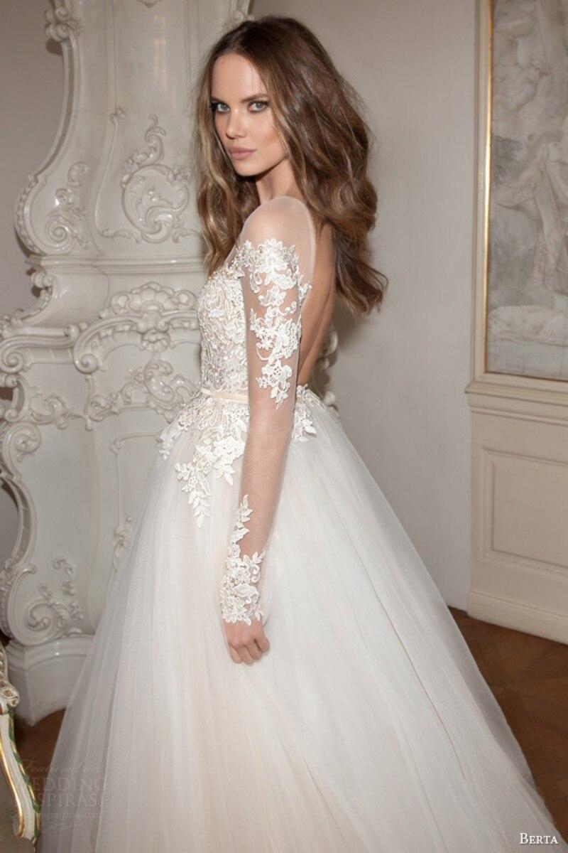 Sheer Neckline Wedding Dress - Wedding Dress Ideas