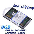 Бесплатная доставка!!! 8 ГБ 204pin DDR3 1600 МГЦ Ноутбук ОПЕРАТИВНОЙ ПАМЯТИ, DDR3 НОУТБУК ПАМЯТИ PC3-12800