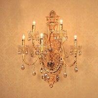 Заподлицо стены бра из светодиодов шайбы стены бра свечи из светодиодов крытый стена ламп спальню отель настенные светильники ретро зеркал