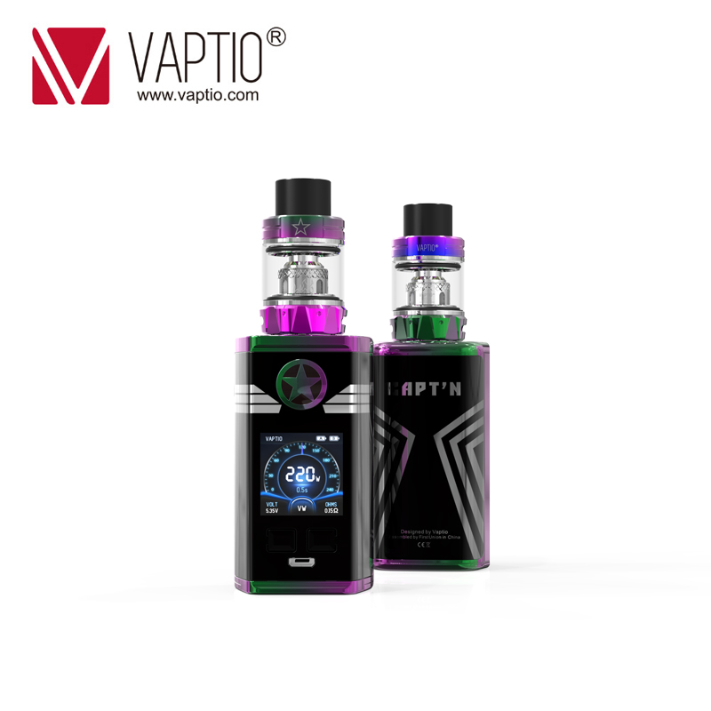 E Cigarette Vape Kit CAPTAIN 220w Box Mod Powerful Output Fitted TFV8 Baby Tank 2.0ml Atomizer Support 2*18650 Battery Vaporizer