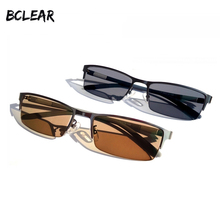 BCLEAR New Arrival Men Presbyopia Prescription Photochromic Sunglasses Fashion Alloy Half Rim Chameleon Eyeglasses Gray Brown