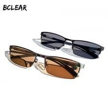 BCLEAR New Arrival Homens Presbiopia Prescrição Fotocromáticas Óculos de Sol  Da Moda Liga Metade Rim Óculos Camaleão Marrom Cinz. 625773fc26