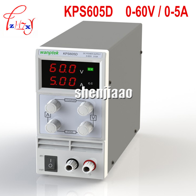 220V/110v DC Power Supply KPS605D 60V 5A Single Channel Adjustable SMPS Digital 0.1 V 0.01A DC adjustable power supply 50hz/60hz newest mini switching dc power supply kps605d 60v 5a single channel adjustable smps digital 0 1v 0 01a dc power supply