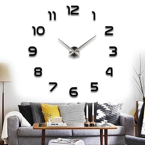 3D DIY Clock Stickers Decor Creative Wall Sticker Fashion Home Art Decoration