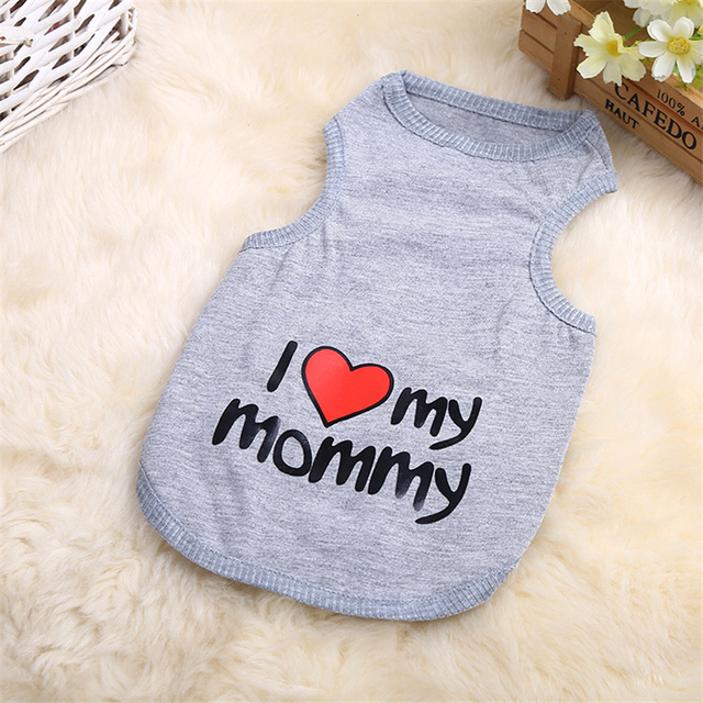 FREE! I heart my Mommy – I heart my Daddy Cute Pet Dog Clothes