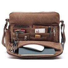 36449249a67f Vintage Canvas Laptop Messenger Bag for Men Casaul Shoulder Crossbody Purse  Male Business Handbag Travel Work