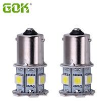цена на 100pcs Car Led 1142 BA15D 13 SMD 5050 led 1142 1157 1156 13smd led Turn Signal LED Bulbs Auto Rear Brake light