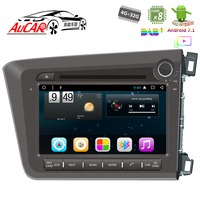 Android 8'' Car DVD Player for Honda Civic RHD 2012 2014 Touch screen car stereo Car GPS Bluetooth Radio WIFI 4G AUX