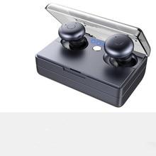 충전 상자가있는 E20 무선 블루투스 이어폰 스테레오 서브 우퍼 인 이어 이어폰 마이크가있는 방수 HIFI 무선 이어폰