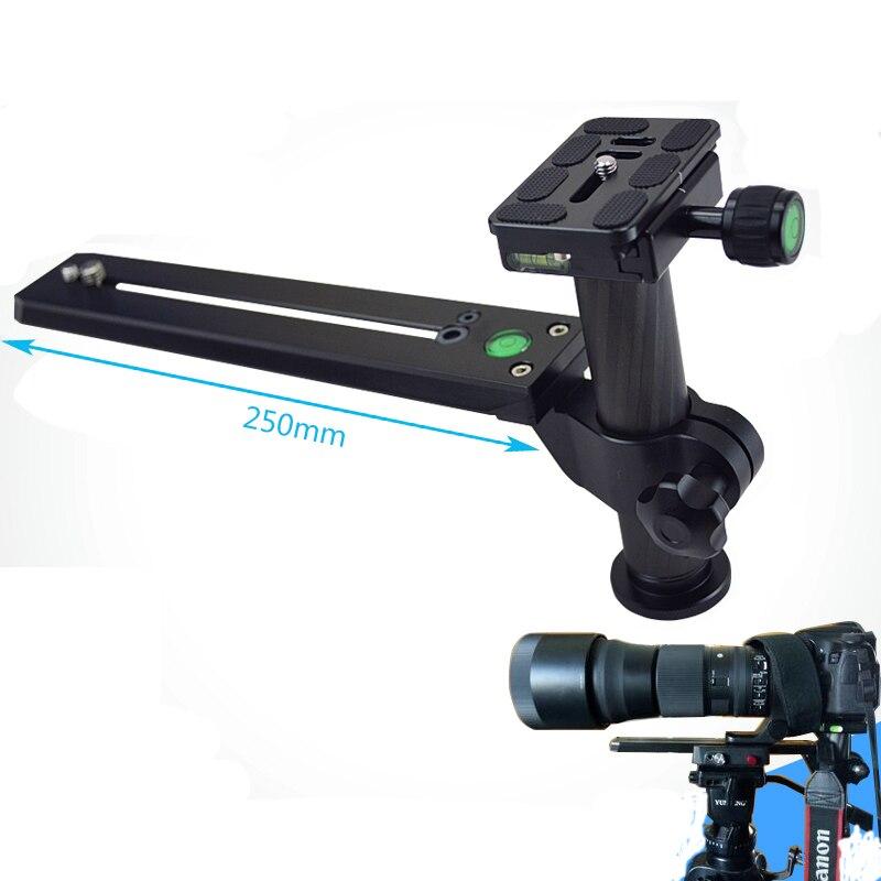 4b5c6d2c5c Teleobiettivo Lens Staffa di Supporto Del Supporto con 200mm Lungo Ferrovia  Piastra Rapida 1/4 & 3/8 Viti di montaggio per 200-500mm Lens
