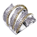 Big Rings for Women Made with Cubic zirconia Luxury CZ Ring New design Fashion Jewelry Free shipping