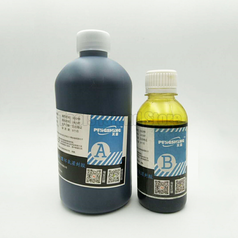 Low shrinkage 1:4 black epoxy resin for inductance, coil, iron core, magnetic core, transformer bonding fixed insulation seal катушка индуктивности mundorf m coil bv transformer core bt140 8 2 mh 1 40 mm