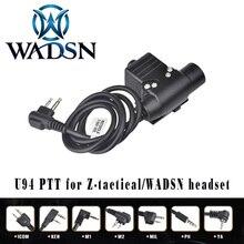 WADSN Airsoft Cuffia U94 PTT per KENWOOD Plug Walkie Talkie BaoFeng UV 82 Radio Adattatore Push to Talk Softair Auricolare WZ113