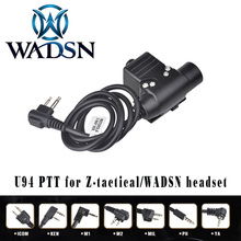 WADSN Airsoft Headphone U94 PTT for KENWOOD Plug Walkie Talkie BaoFeng UV 82 Radio Adapter Push to Talk Softair Headset WZ113