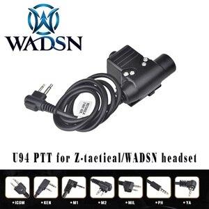 Image 1 - WADSN Airsoft หูฟัง U94 PTT สำหรับ KENWOOD Plug Walkie Talkie Baofeng UV 82 วิทยุอะแดปเตอร์ Push to Talk Softair ชุดหูฟัง WZ113