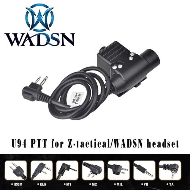 WADSN Airsoft หูฟัง U94 PTT สำหรับ KENWOOD Plug Walkie Talkie Baofeng UV 82 วิทยุอะแดปเตอร์ Push to Talk Softair ชุดหูฟัง WZ113