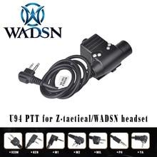 WADSN auriculares Airsoft U94 PTT para Walkie Talkie KENWOOD, adaptador de Radio BaoFeng UV 82, Push to Talk Softair, WZ113