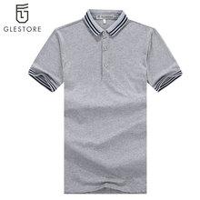 Men'S Brand Polo Shirts Slim Fit Striped Polo Shirt Cotton Stitching Polo Shirts Black, Gray, Dark Blue Polo Sizes XS-XL