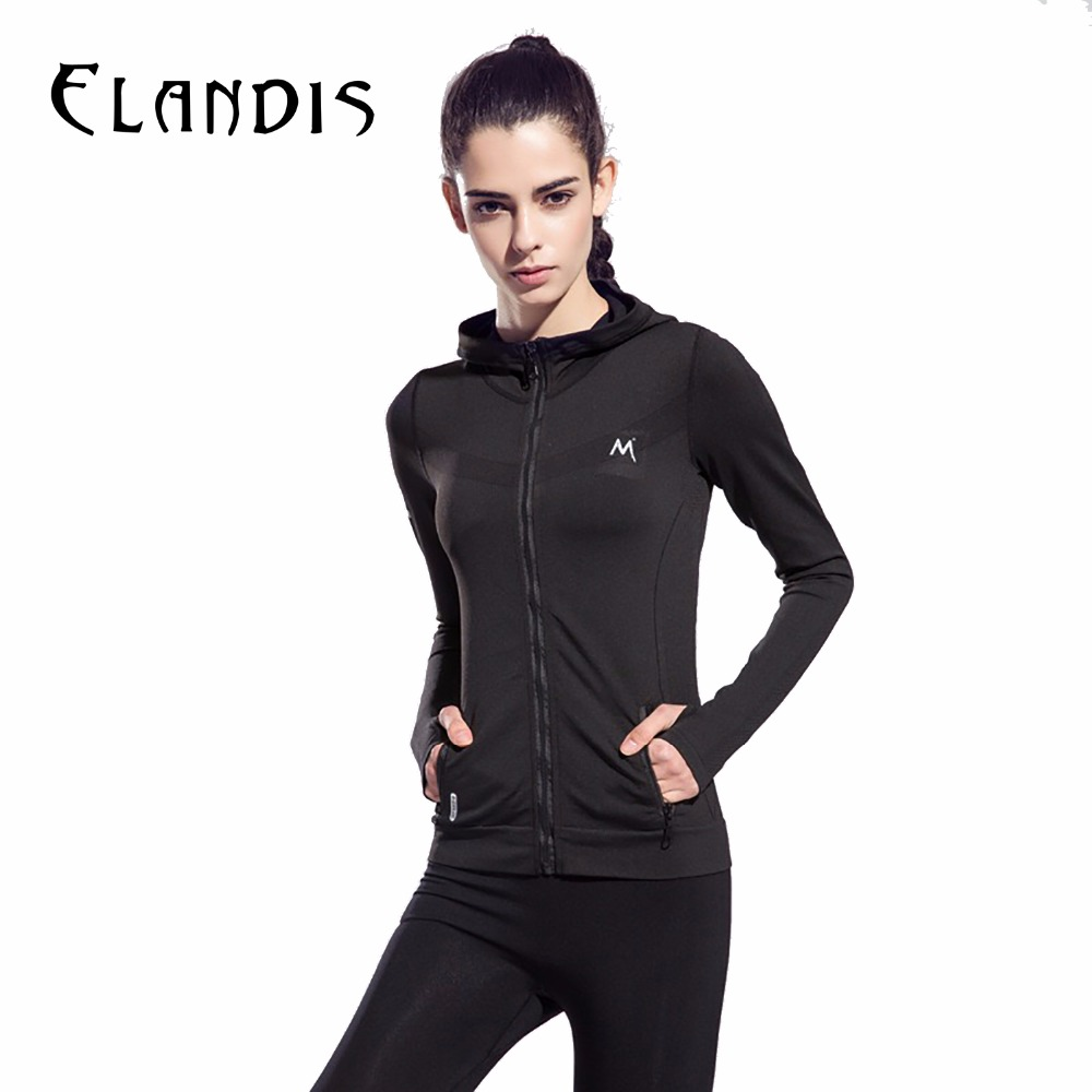 FLANDI Sport Shirts Women Fitness Long Sleeve Hooded Zipper Yoga Tops Tracksuit Gym Clothing for Women skullies