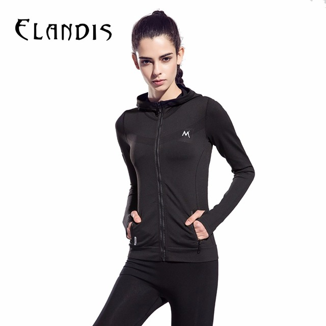 FLANDI Спортивную Одежду для Женщин Тренажерный Зал Фитнес Длинными рукавами Управлением Куртка С Капюшоном На Молнии Джерси Yoga Рубашки форма Размер SL шесть цветов