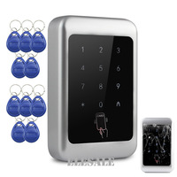 New Access Control Proximity Entry System + 10 RFID Tags Keyfobs Touch Keypad RFID Card Door Lock Opener Metal Casing