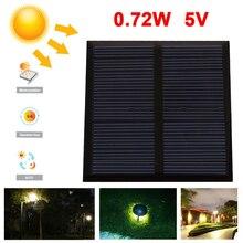 Cewaal Portable 0 72W 5V Mini Durable Polycrystalline Solar Panels phone Charger Solar Power Panel Solar