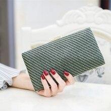 2017 woman bag new fashion evening bags clutch straw style Ladies party wedding bride purse handbags