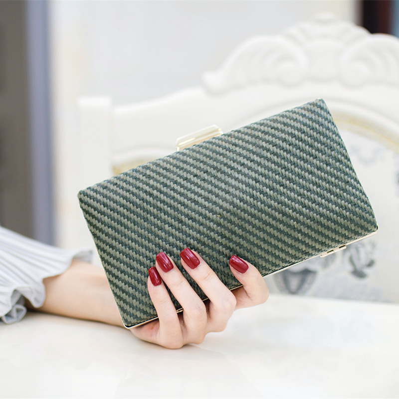 2017 woman bag new fashion evening bags font b clutch b font straw style Ladies font