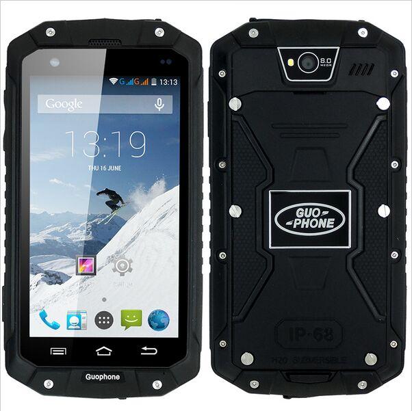 Original guophone v9 teléfono celular resistente al agua ip68 mtk6572 android 4.