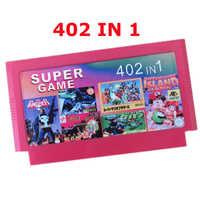 Vente chaude 8 bits cartouche de jeu meilleur cadeau pour les enfants ---------- 402 en 1 panier de jeu