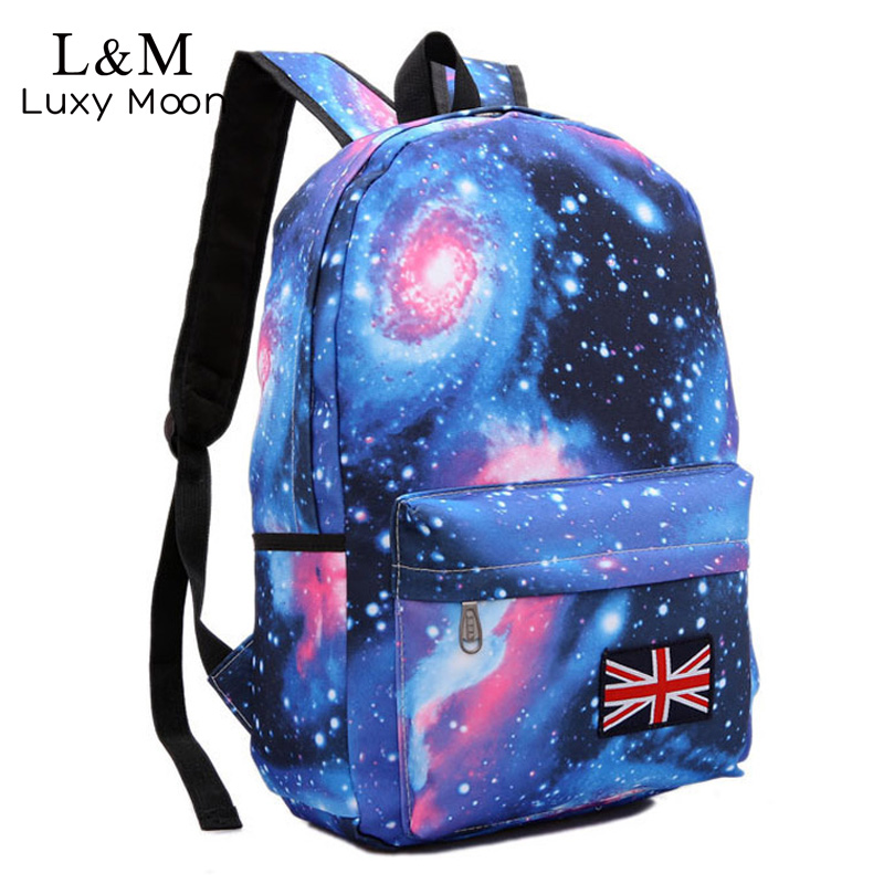 Universe Graffiti Printing Backpack Women Space Galaxy Stars School Bags for Teenage Girls Large Backpacks Blue mochila XA23H 2017 new women galaxy star universe space canvas backpack multicolor school bags for girls mochila feminina teenage campus bags