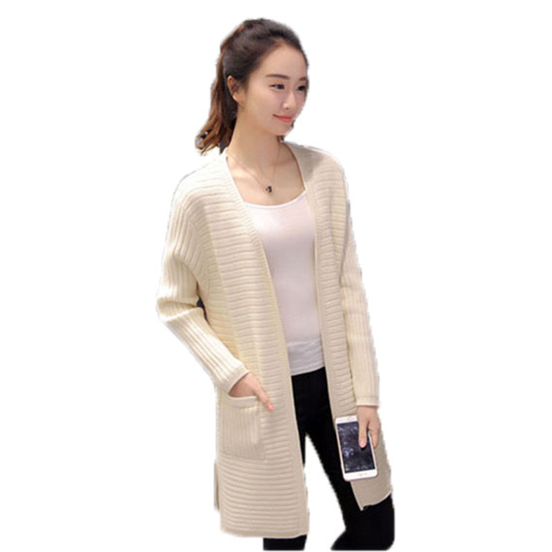 2018 Spring Autumn Winter Women Knitted Cardigans Casual Sweaters Ladies V Neck Long Sleeve Cardigans Female loose Sweaters O19