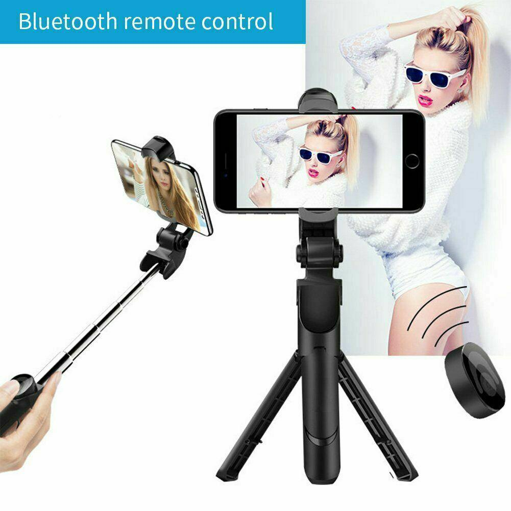 Mini Wireless Bluetooth Selfie Stick For iPhone Android Foldable Handheld Monopod Shutter Remote Extendable