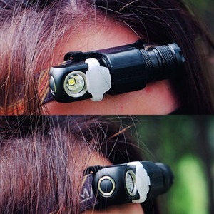 Image 5 - Manker E03H AA Headlamp 350LM CREE XP L / Nichia 219C LED Headlight Angle flashlight With Headband, Magnet Tail, Reversible Clip