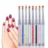 8 Adet UV Jel Akrilik Astar Boyama Nail Art İpuçları Tasarım Polonya Fırça Kalem Seti drop shipping 0927