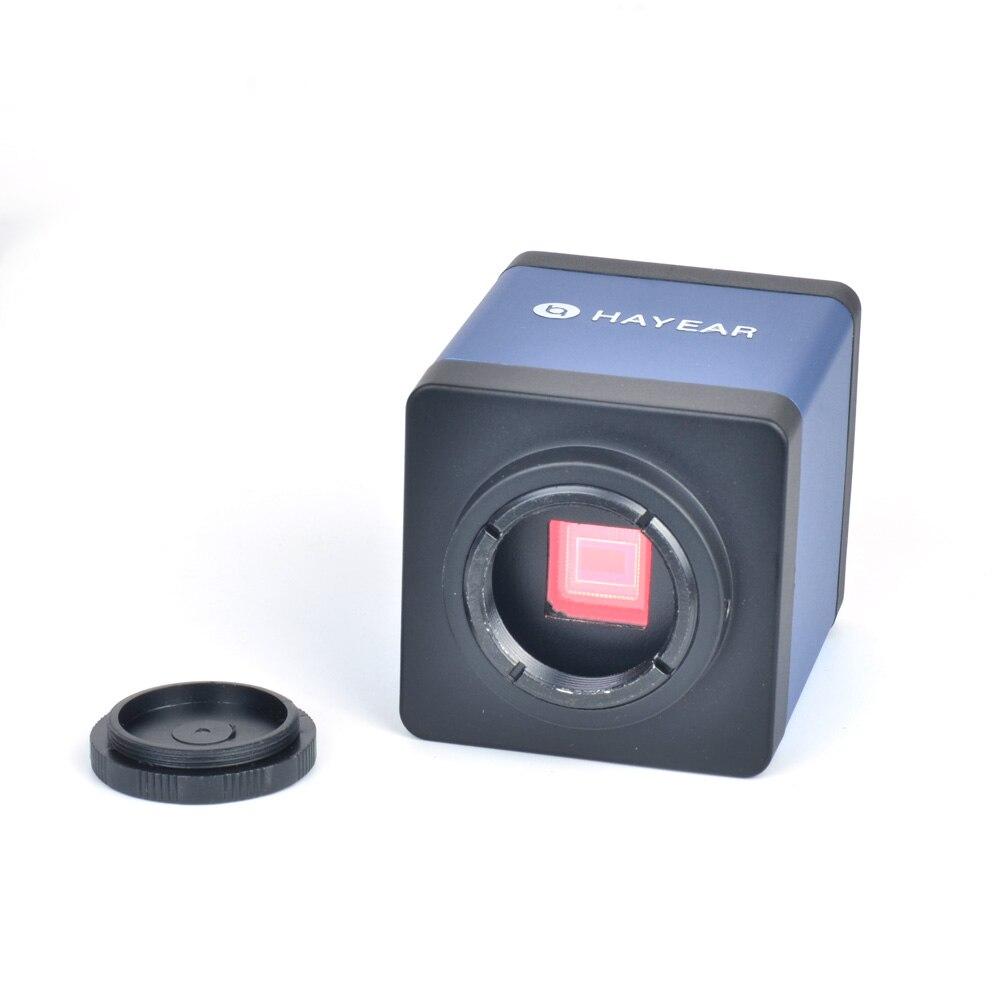 HD 2.0MP HDMI VGA numérique industrie vidéo Microscope caméra 1080 P sortie vidéo + 100X C-MOUNT objectif de la caméra pour le contrôle de la souris de laboratoire PCB