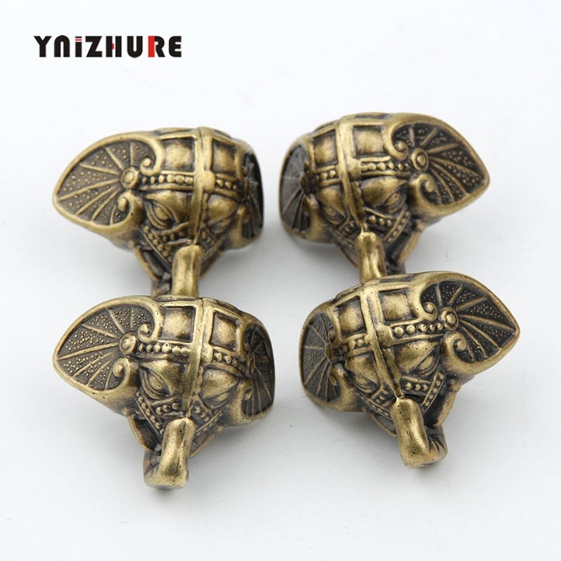 8PCS 28*23mm Antique Elephant Vintage Bronze Jewelry Chest Box Wooden Case Decorative Protection Feet Leg Plastic material8PCS 28*23mm Antique Elephant Vintage Bronze Jewelry Chest Box Wooden Case Decorative Protection Feet Leg Plastic material
