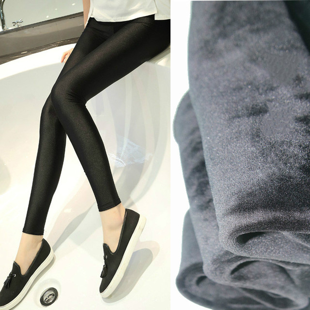 High quality maternity winter pregnant women stretch pants fabric gloss thickening models upgrade Leggings all-match warm