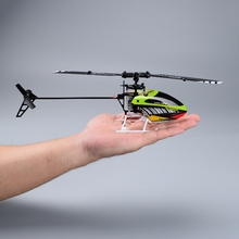 2016 newest NiHui H377 3D Tumbling Single Blade Flybarless RC Helicopter 2.4G 6CH Inverted Flying Remote Control Toy RTF vs V944