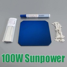 DIY 100W Sunpower Maxeon C60 Solar Panel 21.8% High Efficiency 32pcs x 3.34W for Flexible Solar Panel WY