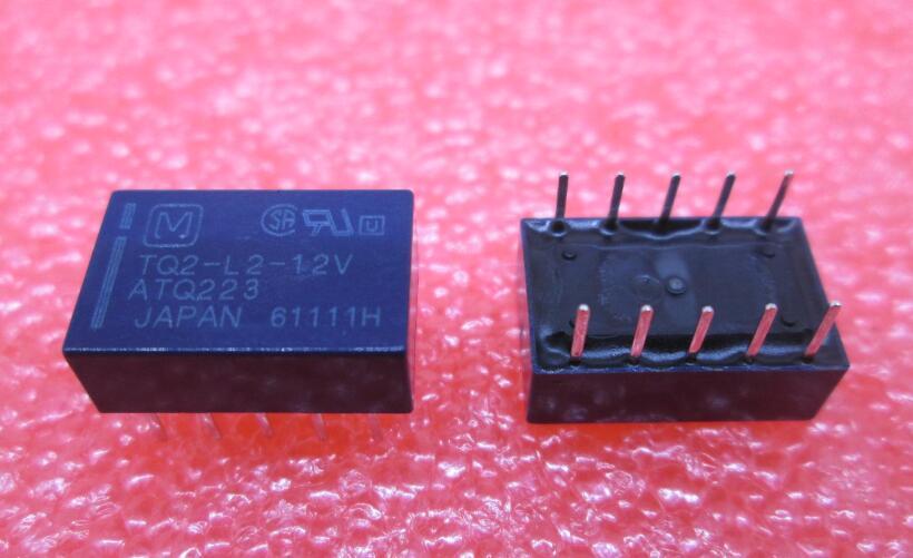 цена на HOTNEW relay TQ2-L2-12V ATQ223 TQ2L212V TQ2 12V 12VDC DC12V 12V DIP10 10pcs/lot
