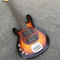 New music man five strings left hand electric bass, backhand electric bass, real photos, wholesale and retail