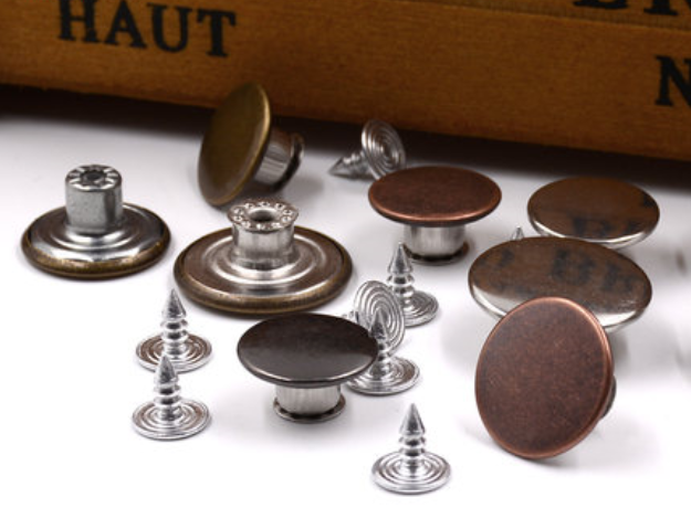 10pcslot Clothing Metal I-Button Coin Copper Jeans Button Bib Button Cloth Coat Clothes Button Jeans Button
