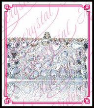 Aidocrystal 2016 Neue Design Silber weiß diamantkristall geldbörsen clutch bag für frauen handgemachte Bling abendtaschen