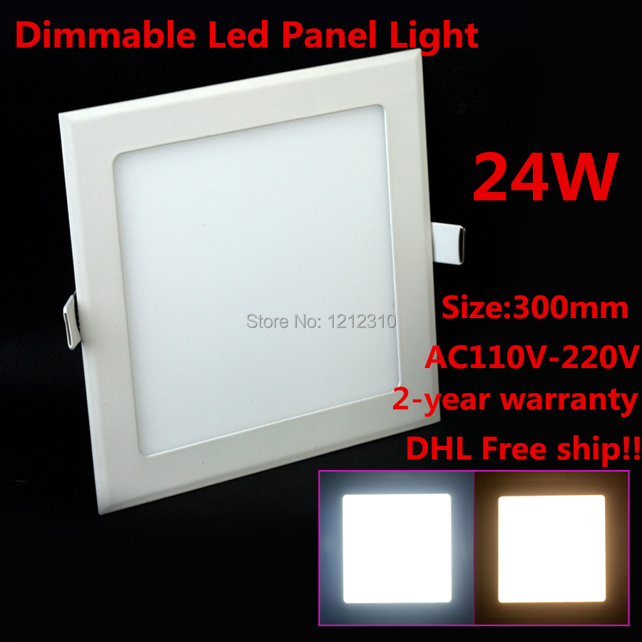 ФОТО 10pcs/lot DHL free shipping Ultra Thin Brighter Dimmable 24W LED Ceiling Recessed Grid Cabinet Downlight Slim Square Panel Light