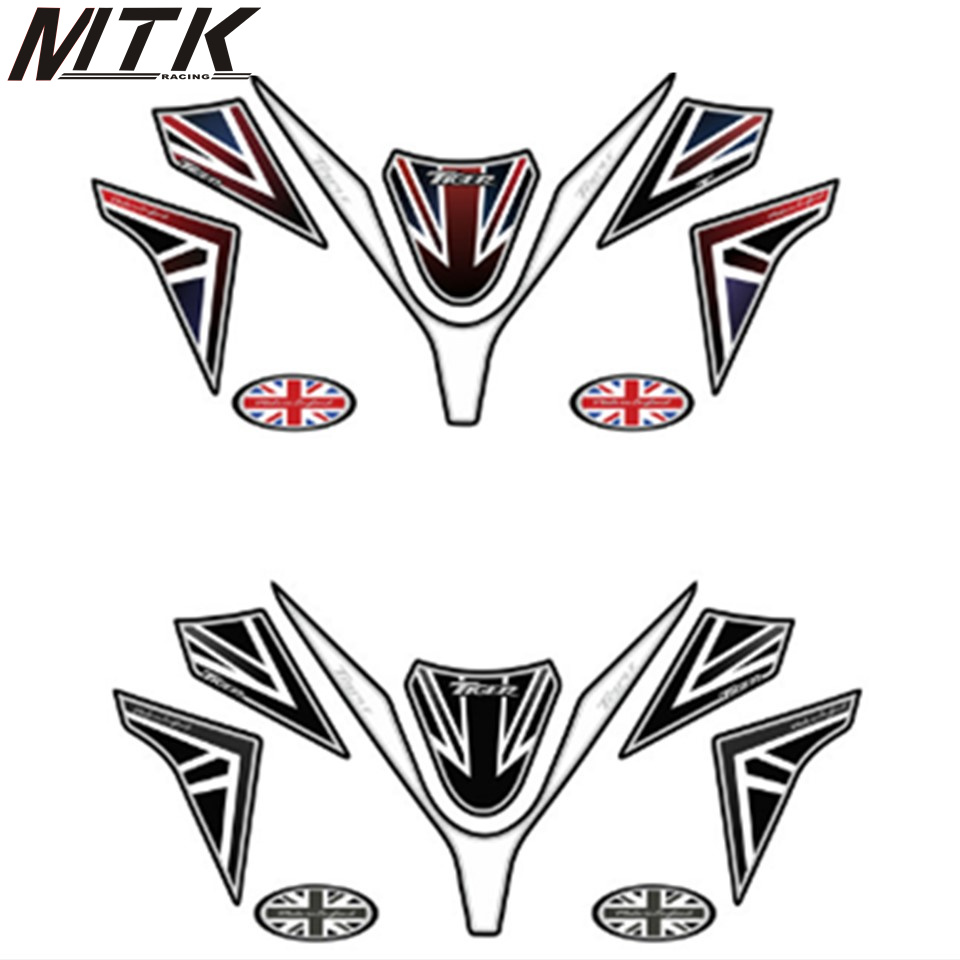 MTKRACING Motorcycle sticker front fairing engine number plate 3D gel protector for TRIUMPH Tiger 1050MTKRACING Motorcycle sticker front fairing engine number plate 3D gel protector for TRIUMPH Tiger 1050