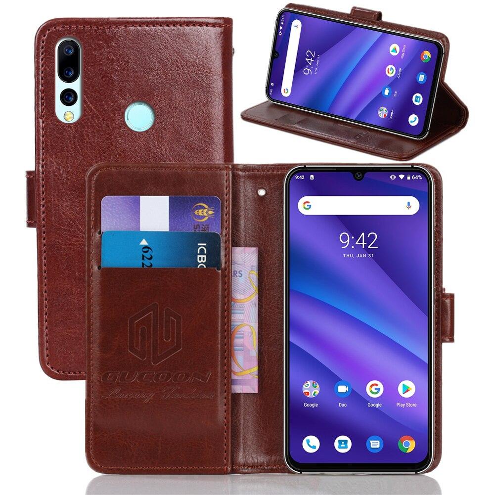 GUCOON classique étui portefeuille pour UMI DIGI UMIDIGI A5 A3 Pro F1 couverture PU cuir Vintage étui à rabat mode téléphone sac bouclier